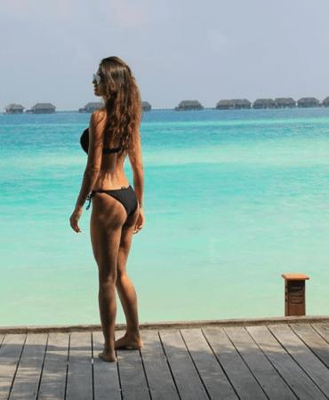 Disha Patani's Black Bikini Avatar