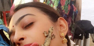 Lizard Crawls On Radhika Apte Cheek