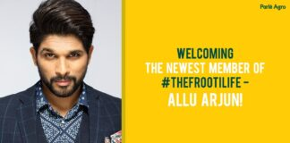 Parle Agro Ropes Allu Arjun as Brand Ambassador for Frooti