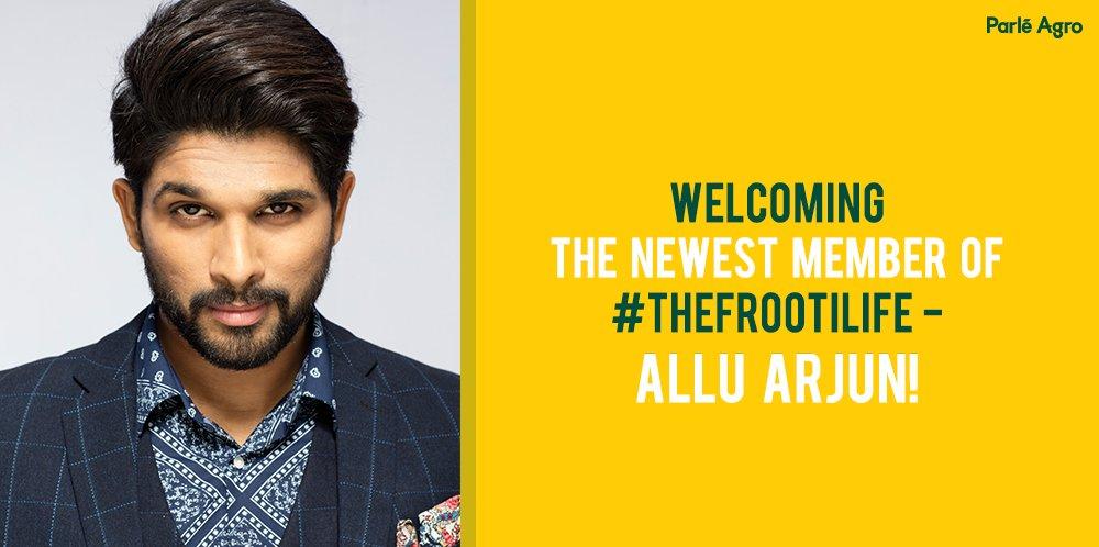 Parle Agro Ropes Allu Arjun as Brand Ambassador for Frooti