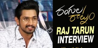 Raj Tarun Press Meet about Rangula Raatnam Movie