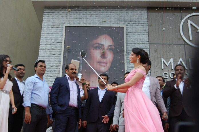 Slipper Thrown At Actress Tamanna At Malabar Gold Jewellery Showroom Opening