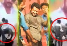 Suriya Touches Fans Feet at TSK Movie Event