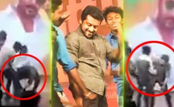 Suriya Touches Fans Feet at TSK Movie Event