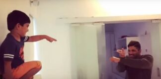 Allu Arjun and Allu Ayaan Reprise Priya Prakash Varrier Viral Video