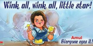 Amul's Cartoon Tribute to Priya Prakash Varrier Viral Wink