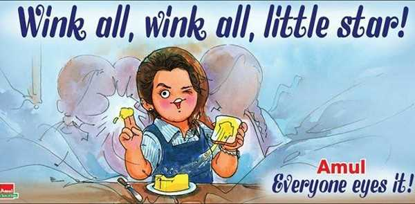 Amul's Cartoon Tribute to Priya Prakash Varrier Viral Wink