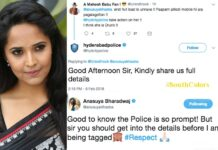 Anchor Anasuya Satires on Hyderabad City Police For Tagging