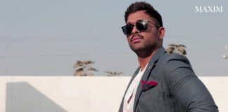 Behind The Scenes Video of Allu Arjun Maxim PhotoShoot