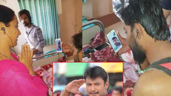 Challenging Star Darshan Video Call to Fan who Suffering From Cancer