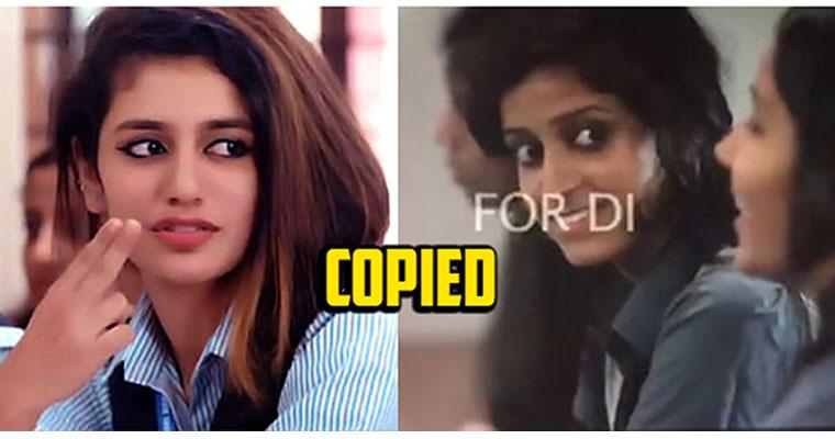 Priya Prakash Varrier Viral Wink Scene Copied from Malayalam Film Kidu