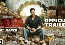 Raid Movie Official Trailer Ajay Devgn Plays Income Tax Officer