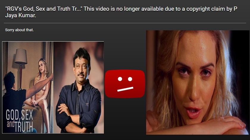 Ram Gopal Varma's God Sex and Truth Trailer Removed from YouTube