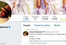 Suriya Crosses 4 Million Twitter Followers