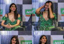 Vaani Kapoor Hot Deep Cleavage Show Photos In Press Meet