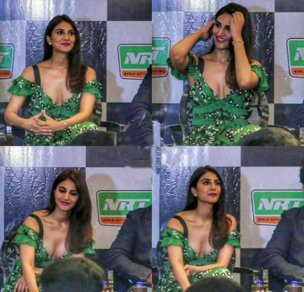Vaani Kapoor Hot Deep Cleavage Show Photos In Press Meet