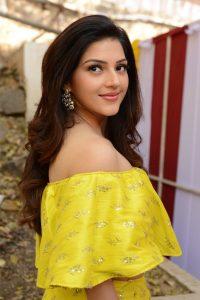 Actress Mehreen Pirzada Yellow Dress Latest Photos