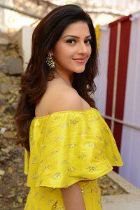 actress mehreen pirzada yellow dress latest photos 2018 15