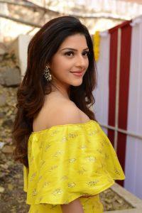 actress mehreen pirzada yellow dress latest photos 2018 17