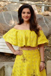 actress mehreen pirzada yellow dress latest photos 2018 3