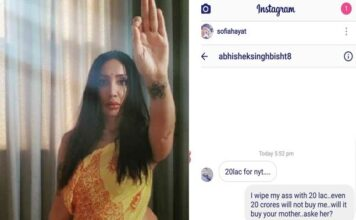 Actress Sofia Hayat Blasts a Man who offered her Rs 20 lakh to spend a night