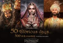 Padmaavat Movie Collects Rs 300 crore at Box Office in 50 days