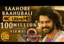 Saahore Baahubali Full Video Song Hits 100 Million Views