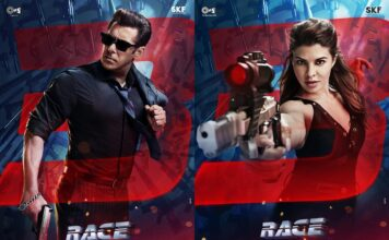 Salman Khan and Jacqueline Fernandez First Look Posters From Race 3 Movie