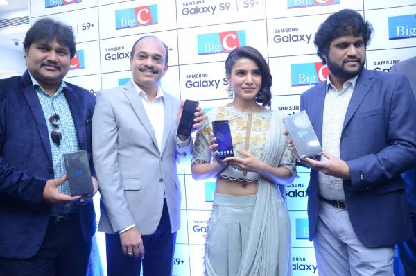 samantha launches samsung s9 mobile at kukatpally bigc photos 8
