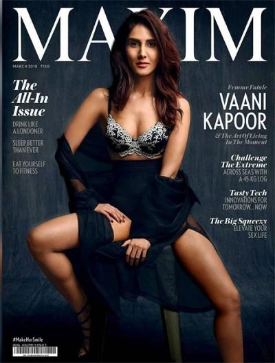 Vaani Kapoor Hot Stunning Look on Maxim India 2018