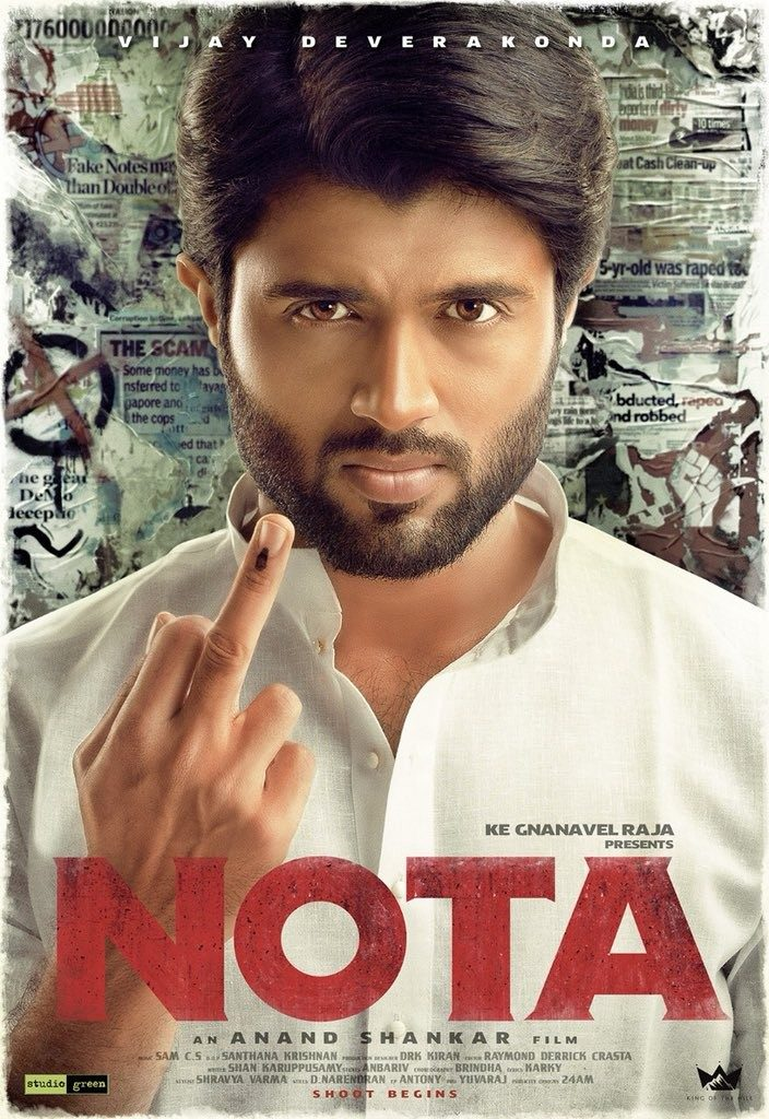 Vijay Deverakonda Tamil Debut Titled NOTA First look Poster Out