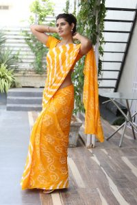 actress ashima narwal latest photos in yellow saree 1