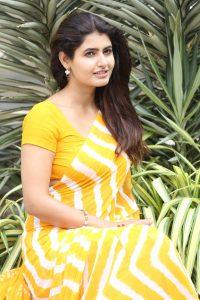 actress ashima narwal latest photos in yellow saree 12