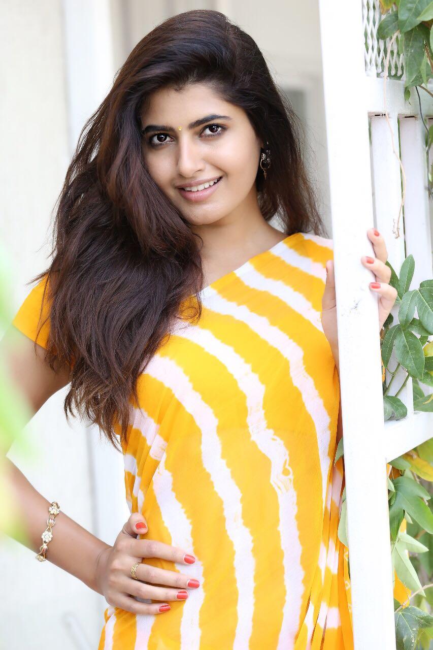 Ashima Narwal Latest Photos In Yellow Saree