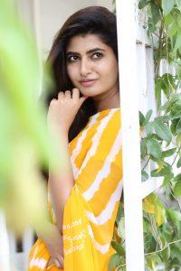 actress ashima narwal latest photos in yellow saree 5