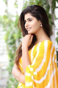 actress ashima narwal latest photos in yellow saree 9