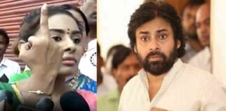 Actress Sri Reddy shows Middle Finger to Pawan Kalyan