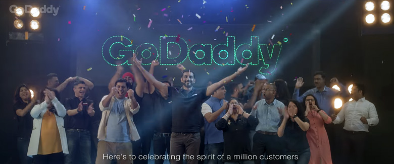 GoDaddy has over 1 Million Customers in India