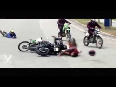 Manchu Vishnu Bike Accident Video in Malaysia