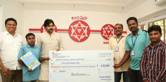 JanaSena Chief Pawan Kalyan donates 5 lakhs to T-20 Cricket Tournament for Differently-abled