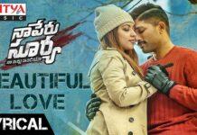Beautiful Love Lyrical Video Song   Naa Peru Surya Naa Illu India Songs