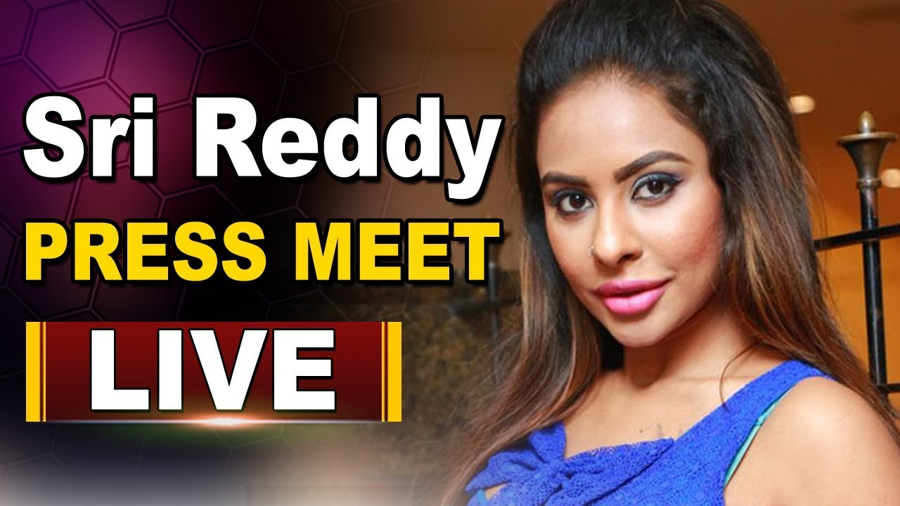 Actress Sri Reddy Press Meet Over Tollywood Casting Couch at Somajiguda Press Club