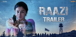 Raazi Movie Official Trailer Starring Alia Bhatt and Vicky Kaushal