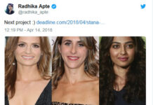 Radhika Apte to Star in Hollywood Film on World War 2
