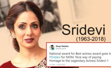 Actress Sridevi wins Best Actress National Award Posthumously