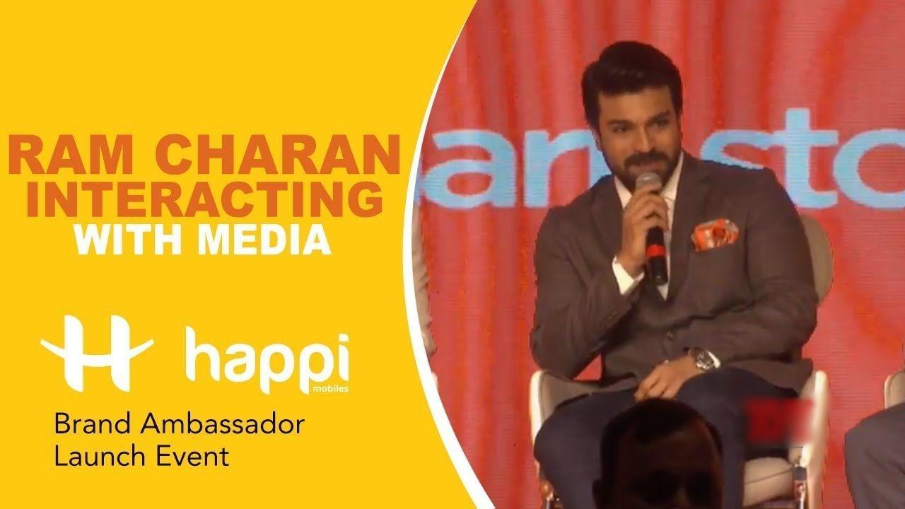 Ram Charan at HAPPI Mobiles Brand Ambassador Unveiling