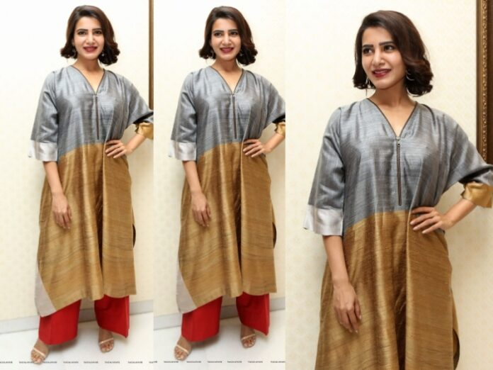 Samantha Akkineni Photos at Abhimanyudu Movie Press Meet