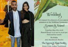 Sonam Kapoor Wedding Invitation Card