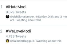 #IHateModi Trending on Twitter