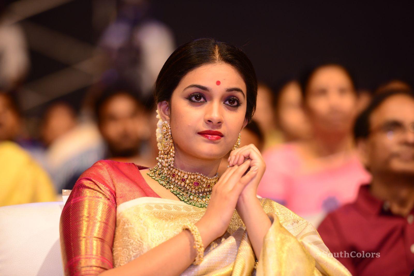 Keerthi Suresh Photos at Mahanati Audio Launch